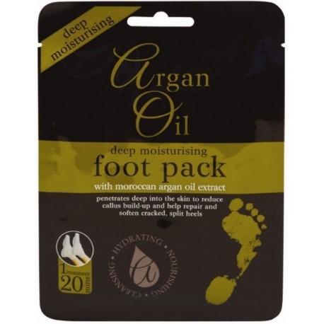 Xpel Argan Oil Deep Moisturising Foot Pack kojų kaukė-kojinės su argano aliejumi