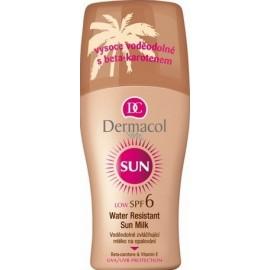 Dermacol Sun Water Resistant Sun Milk SPF 6 purškiamas losjonas nuo saulės 200 ml.