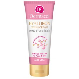 Dermacol Hyalluron Therapy Wash Cream prausiklis veidui ir akims 100 ml.