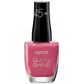 ASTOR Quick & Shine greitai džiūstantis nagų lakas 204 Life In Pink 8 ml.