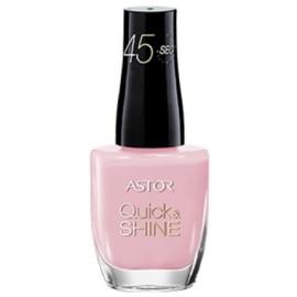 ASTOR Quick & Shine greitai džiūstantis nagų lakas 606 Pink Matter 8 ml.