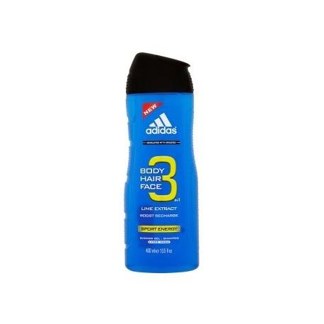 Adidas 3in1 Sport Energy dušo gelis vyrams 400 ml.