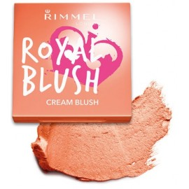 Rimmel Royal Blush Cream kreminiai skaistalai 001 Peach Jewel 3,5 g.