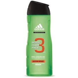 Adidas 3in1 Active Start dušo gelis vyrams 400 ml.