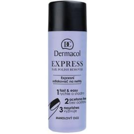 Dermacol Express Nail Polish nagų lako valiklis be acetono 120 ml.