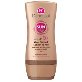 Dermacol Sun Kids Milk SPF 50 losjonas vaikams nuo saulės 200 ml.