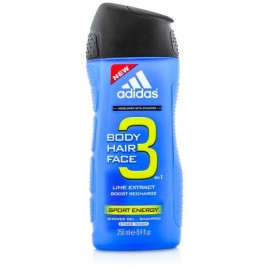 Adidas 3in1 Sport Energy dušo gelis vyrams 250 ml.