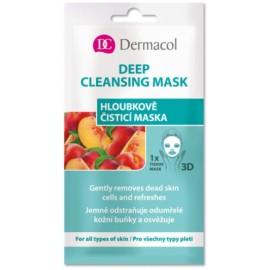Dermacol Deep Cleansing giliai valanti lakštinė veido kaukė 15 ml.