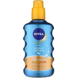 Nivea Sun Protect & Refresh vėsinamasis purškiklis nuo saulės su SPF20 200 ml.