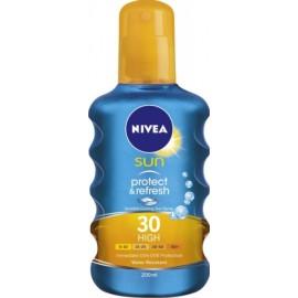 Nivea Sun Protect & Refresh vėsinamasis purškiklis nuo saulės su SPF30 200 ml.