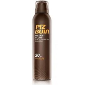 Piz Buin Instant Glow puškiklis su apsauga SPF30 ir perlų spindesiu 150 ml.