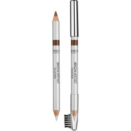 Loreal Superliner Brow Artist Shaper antakių pieštukas su vašku Brunette (rudas)
