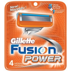 Gillette Fusion Power skustuvo galvutės 4 vnt.