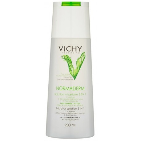 Vichy Normaderm 3in1 Micellar Solution micelinis vanduo 200 ml.