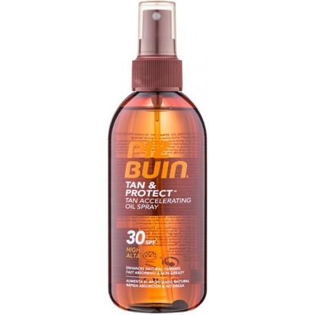 Piz Buin Tan & Protect Tan Accelerating Oil Spray SPF30 apsauginis aliejus skatinantis greitesnį įdegį 150 ml.