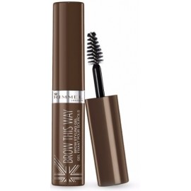 Rimmel Brow This Way antakių gelis-tušas 002 Medium Brown 5 ml.