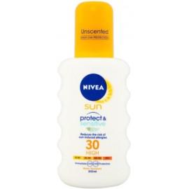 Nivea Sun Protect & Sensitive purškiklis jautriai odai nuo saulės su SPF30 200 ml.