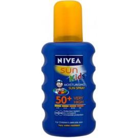 Nivea Sun Kids Coloured purškiklis nuo saulės vaikams su SPF50+ 200 ml.