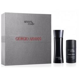 Giorgio Armani Code for Men rinkinys vyrams (75 ml. EDT + 75 ml. dezodorantas)