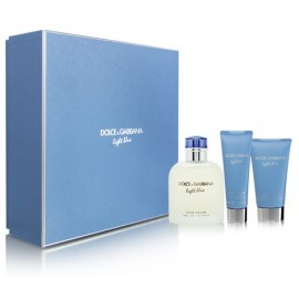 Dolce & Gabbana Light Blue rinkinys vyrams (125 ml. EDT + gelis + balzamas)