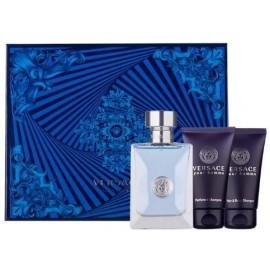 Versace pour Homme rinkinys vyrams (50 ml. EDT + 50 ml. dušo gelis + 50 ml. šampūnas)