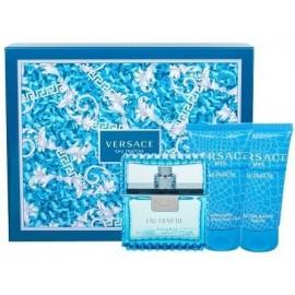 Versace Man Eau Fraiche rinkinys vyrams (50 ml. EDT + 50 ml. dušo gelis + 50 ml. balzamas po skutimosi)