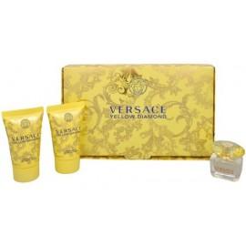 Versace Yellow Diamond mini rinkinys moterims (5 ml .EDT + 25 ml. kūno losjonas + 25 ml. dušo gelis)