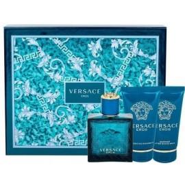 Versace Eros rinkinys vyrams (50 ml. EDT + 50 ml. dušo gelis + 50 ml. balzamas po skutimosi)