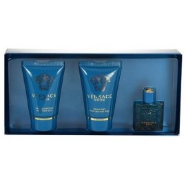 Versace Eros mini rinkinys vyrams (5 ml. EDT + 25 ml. dušo gelis + 25 ml. balzamas po skutimosi)