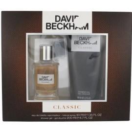 David Beckham Classic rinkinys vyrams (40 ml. EDT + 200 ml. dušo gelis)