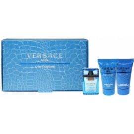 Versace Man Eau Fraiche mini rinkinys vyrams (5 ml. EDT + 25 ml. dušo gelis + 25 ml. balzamas po skutimosi)