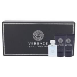 Versace Pour Homme mini rinkinys vyrams (5 ml. EDT + gelis + balzamas)