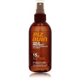 Piz Buin Tan & Protect Tan Accelerating Oil Spray SPF15 apsauginis aliejus skatinantis greitesnį įdegį 150 ml.