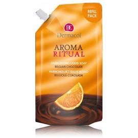 Dermacol Aroma Ritual Liquid Soap Belgian Chocolate skysto muilo papildymas 500 ml.