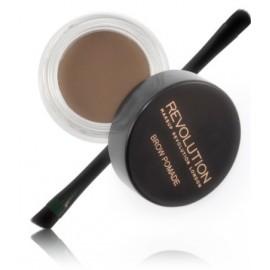 Makeup Revolution Brow Pomade priemonė antakiams su šepetėliu Ash Brown 2.5 g.