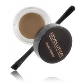 Makeup Revolution Brow Pomade priemonė antakiams su šepetėliu Soft Brown 2.5 g.