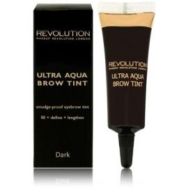 Makeup Revolution Ultra Aqua Brow Tint antakių gelis Dark 10 g.