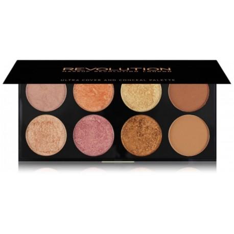 Makeup Revolution Ultra Blush&Contour skaistalų paletė Golden Sugar 2 Rose Gold 13 g.