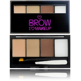 Makeup Revolution I Love Makeup Brow Kit rinkinys antakiams Forest Of Them All 4,5 g.