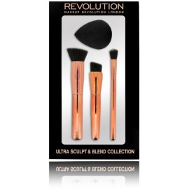 Makeup Revolution Ultra Sculpt & Blend Collection šepetėlių rinkinys+kempinėlė