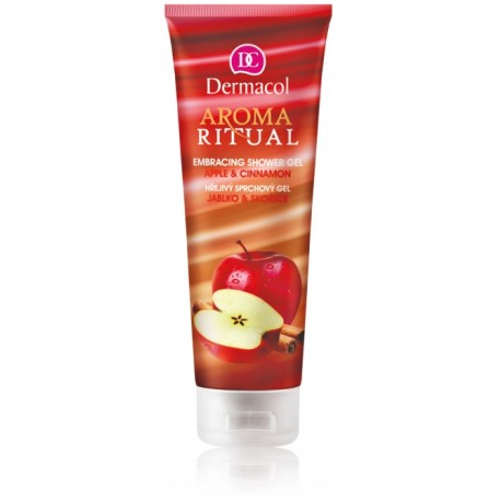 Dermacol Aroma Ritual Shower Gel Apple & Cinnamon dušo gelis 250 ml.
