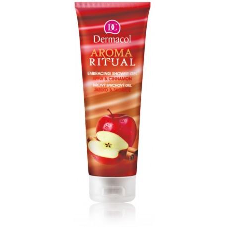 Dermacol Aroma Ritual Shower Gel Apple & Cinnamon dušo gelis 250 ml.