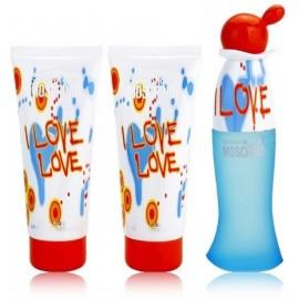 Moschino I Love Love rinkinys moterims (50 ml. EDT + 100 ml. kūno losjonas + 100 ml. dušo gelis)