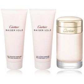 Cartier Baiser Vole rinkinys moterims (100 ml. EDP + losjonas + dušo želė)
