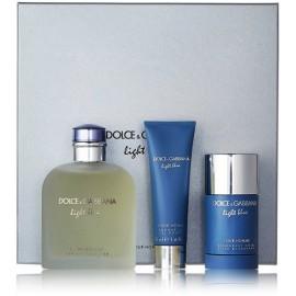 Dolce & Gabbana Light Blue rinkinys vyrams (200 ml. EDT + dezodorantas + gelis)
