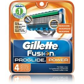 Gillette Fusion ProGlide Power skustuvo galvutės 4 vnt.