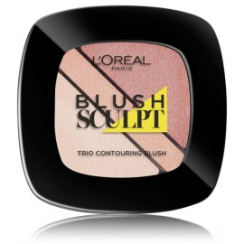 Loreal Infallible Sculpt Blush Trio skaistalai 101 Soft Sand