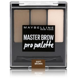 Maybelline Master Brow Pro Palette rinkinys antakių paletė Soft Brown