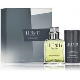 Calvin Klein Eternity rinkinys vyrams (100 ml. EDT + 75 ml. pieštukinis dezodorantas)