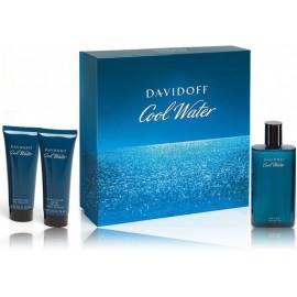 Davidoff Cool Water rinkinys vyrams (125 ml. EDT + 75 ml. dušo gelis + 75 ml. balzamas po skutimosi)